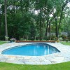 Large Retaining Wall And Pool Area